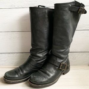 FRYE Veronica Engineer Tall Riding Buckle Boots